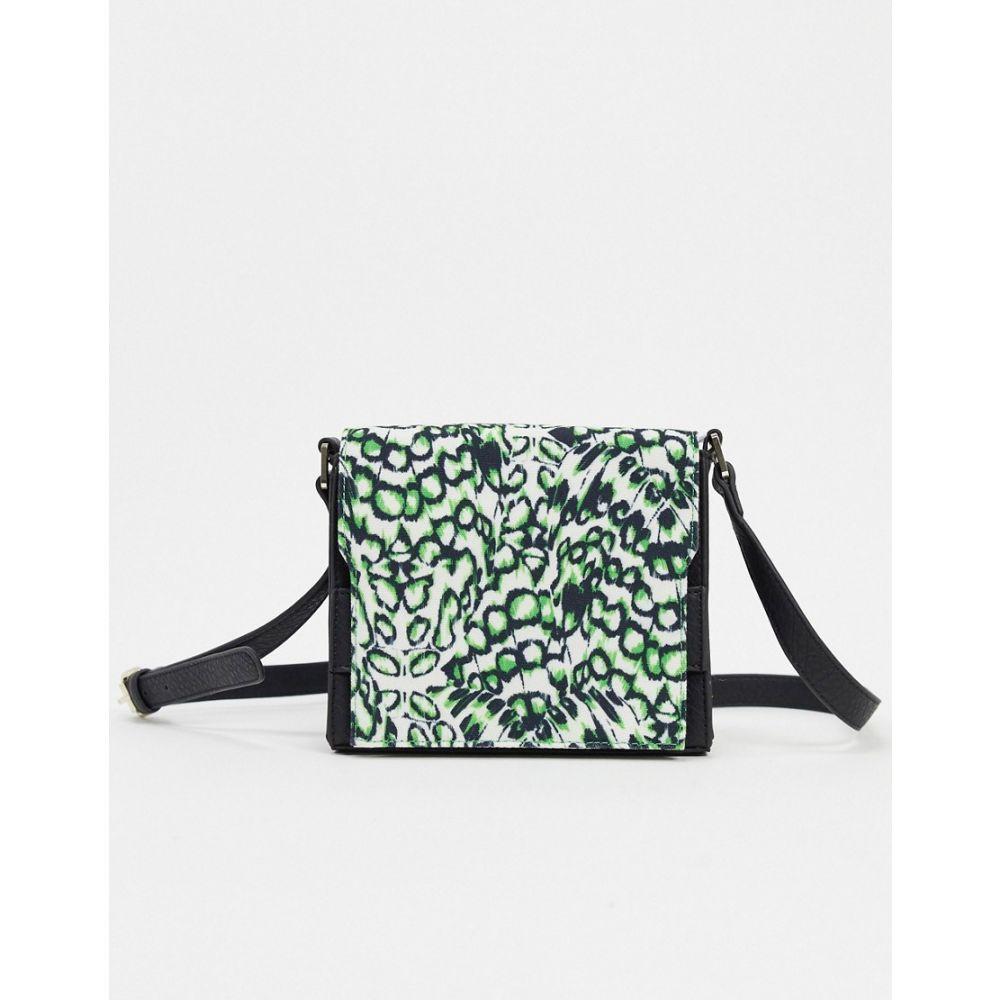 フレンチコネクション French Connection レディース ショルダーバッグ バッグ【cross body bag in leopard moth print】Leopard moth/black