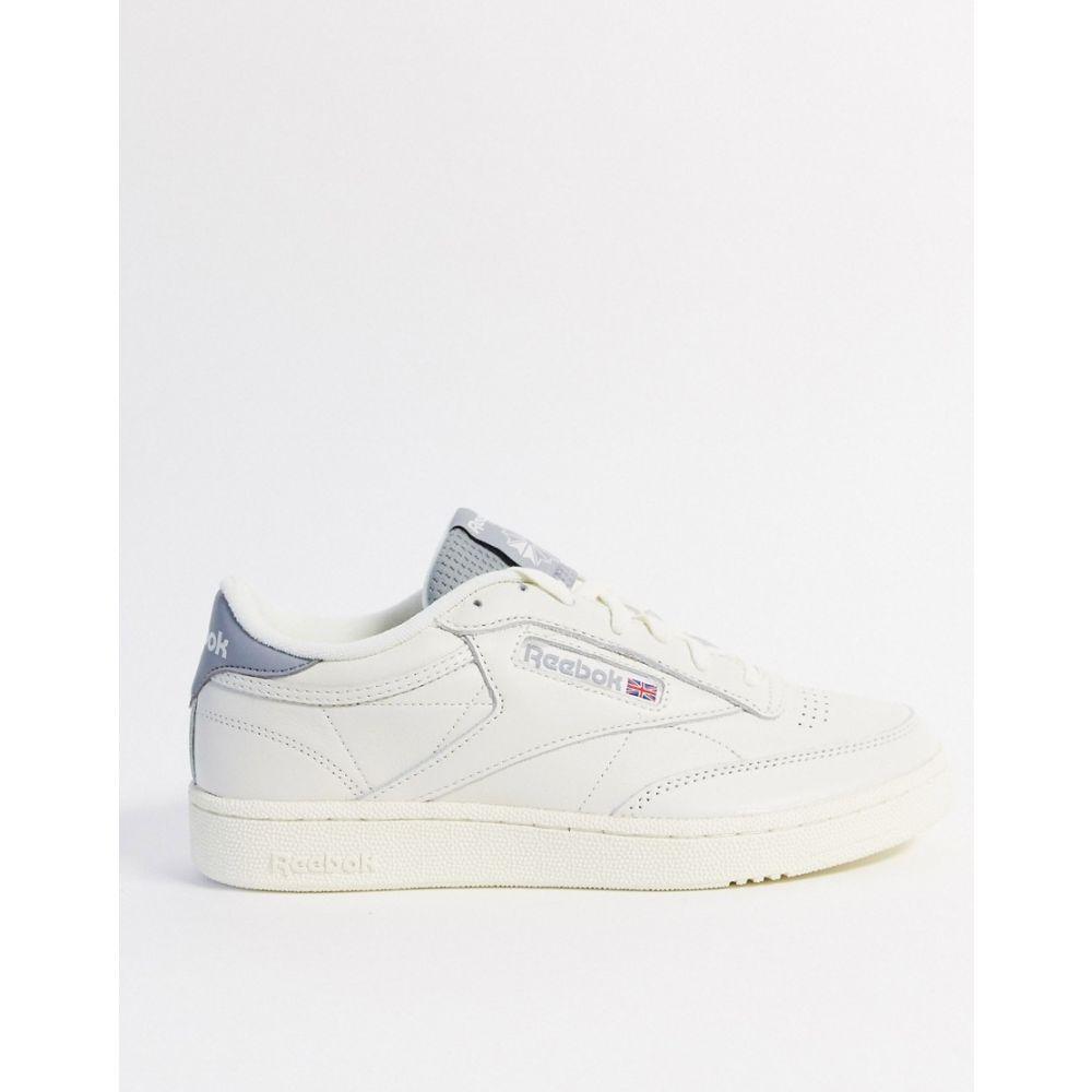 リーボック Reebok メンズ スニーカー シューズ・靴【classics Club C 85 mu trainers in off white】White