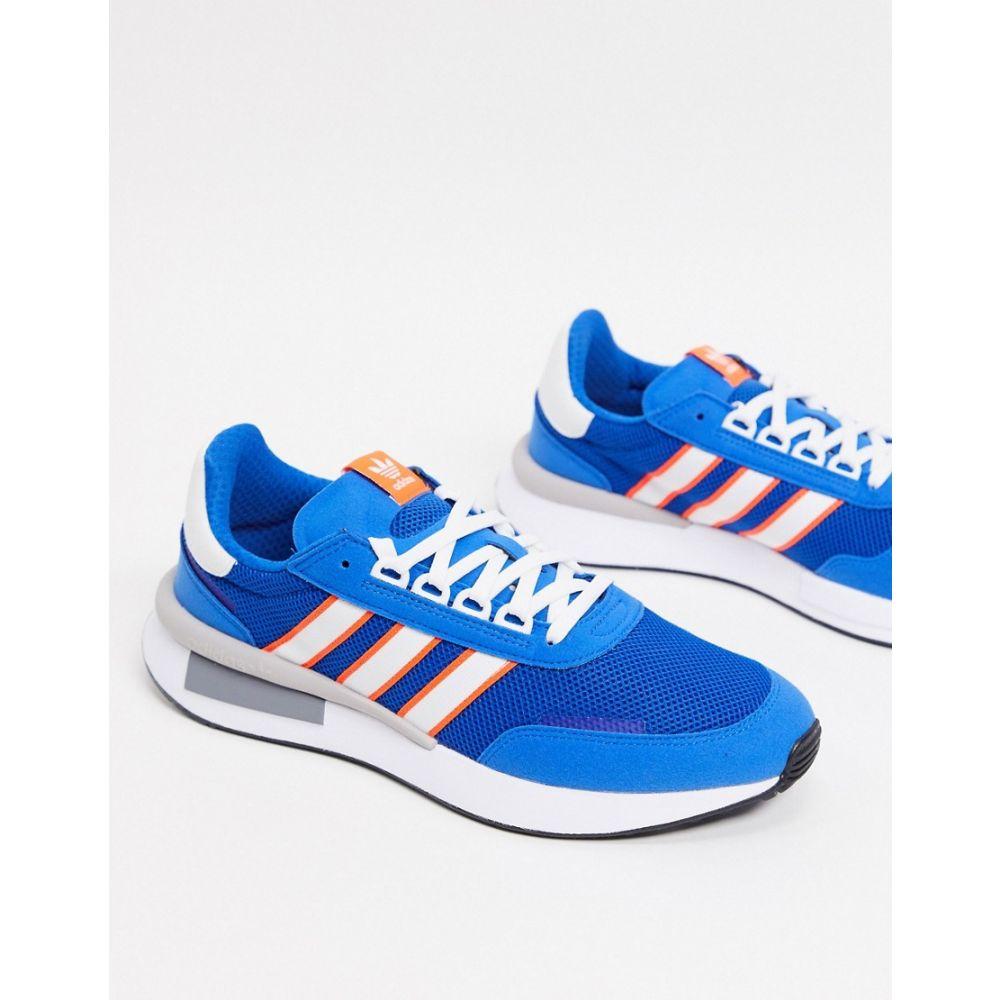アディダス adidas Originals メンズ スニーカー シューズ・靴【retroset trainers in blue】Blue