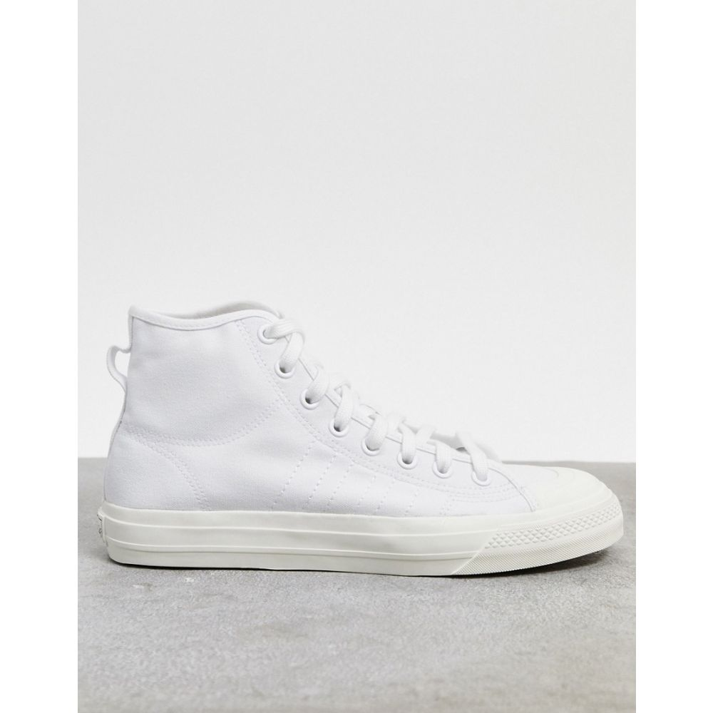 アディダス メンズ シューズ 靴 スニーカー White サイズ交換無料 adidas マーケティング nizza top trainers in white hi 最新 Originals