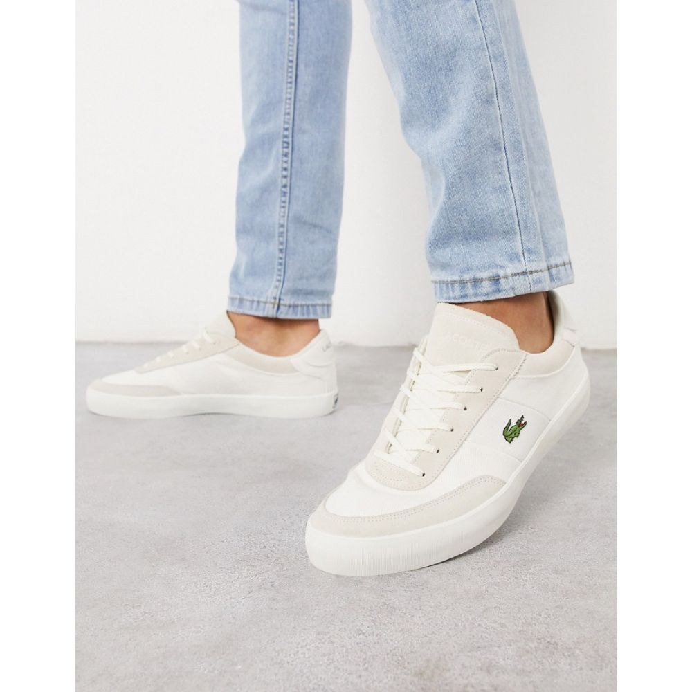 ラコステ Lacoste メンズ スニーカー シューズ・靴【court master trainers with white stripe】White