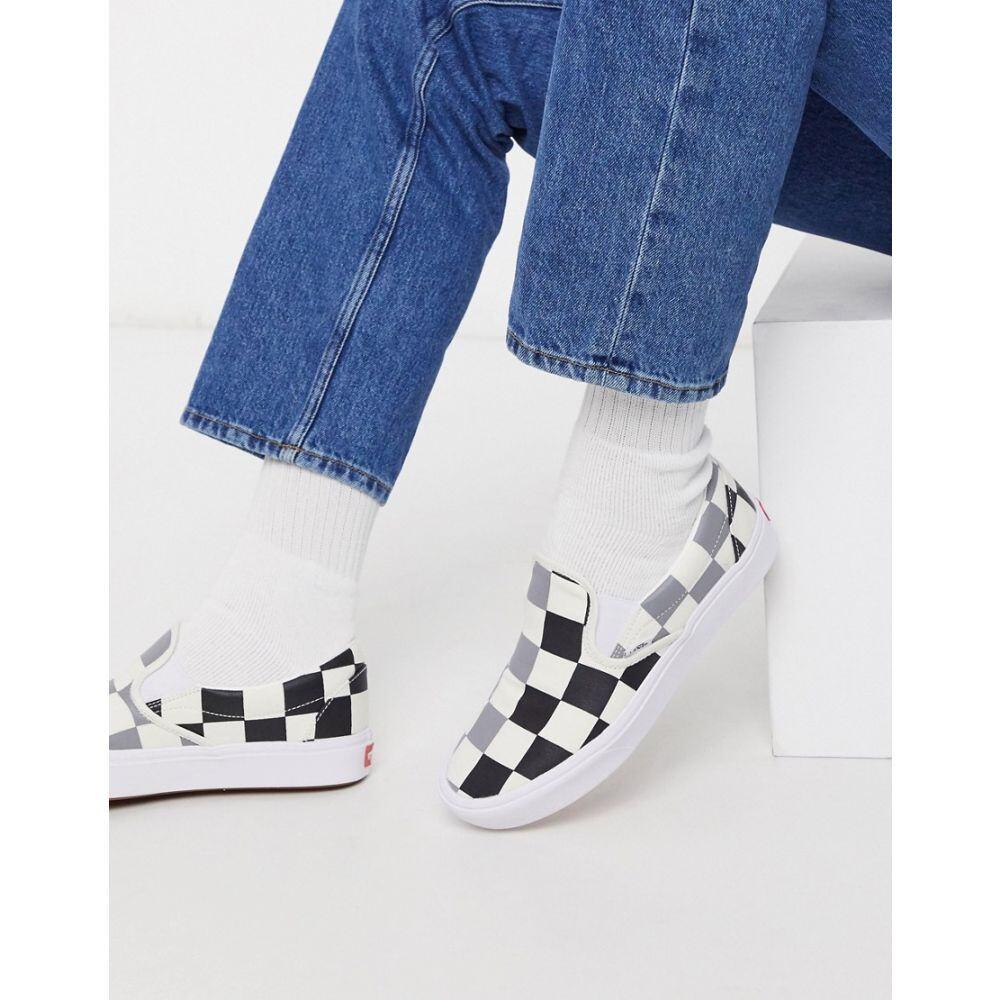 ヴァンズ Vans メンズ スリッポン・フラット シューズ・靴【ComfyCush Slip-On trainer in big checkerboard】Half big checker b