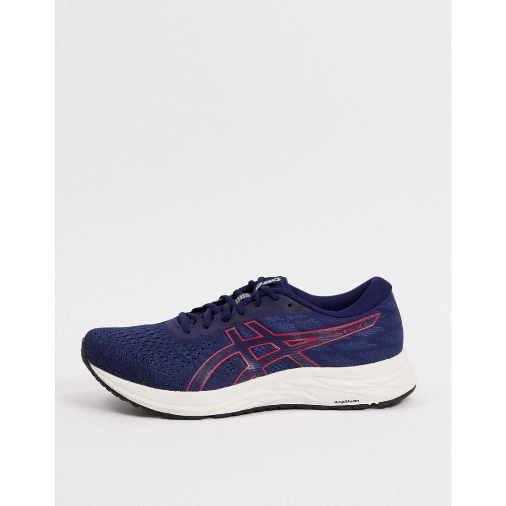 アシックス Asics メンズ ランニング・ウォーキング シューズ・靴【Running Gel-Excite 7 trainers in navy and red】Navy