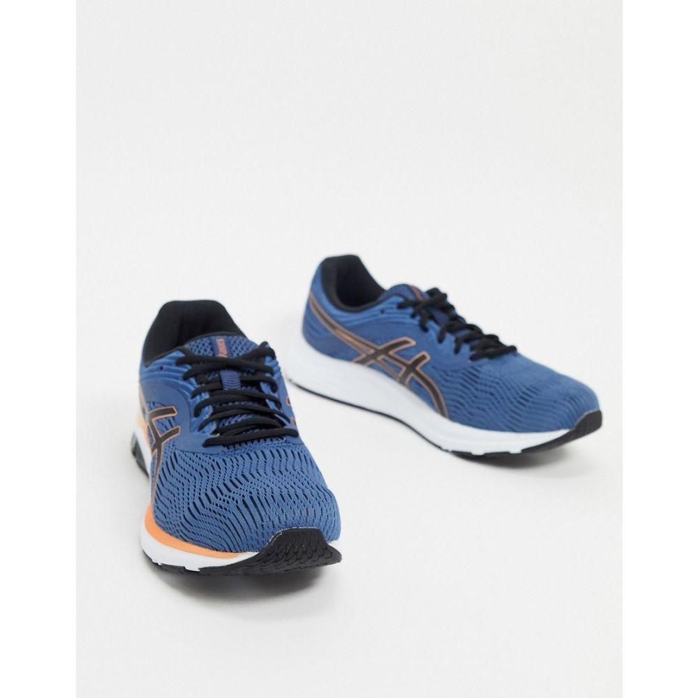 アシックス Asics メンズ ランニング・ウォーキング シューズ・靴【Running gel pulse 11 trainers in blue and orange】Blue