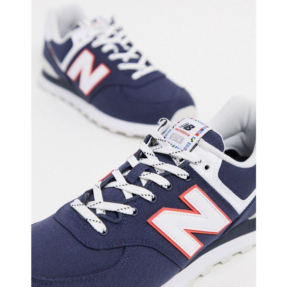 ニューバランス New Balance メンズ スニーカー シューズ・靴【574 trainers in navy】Navy