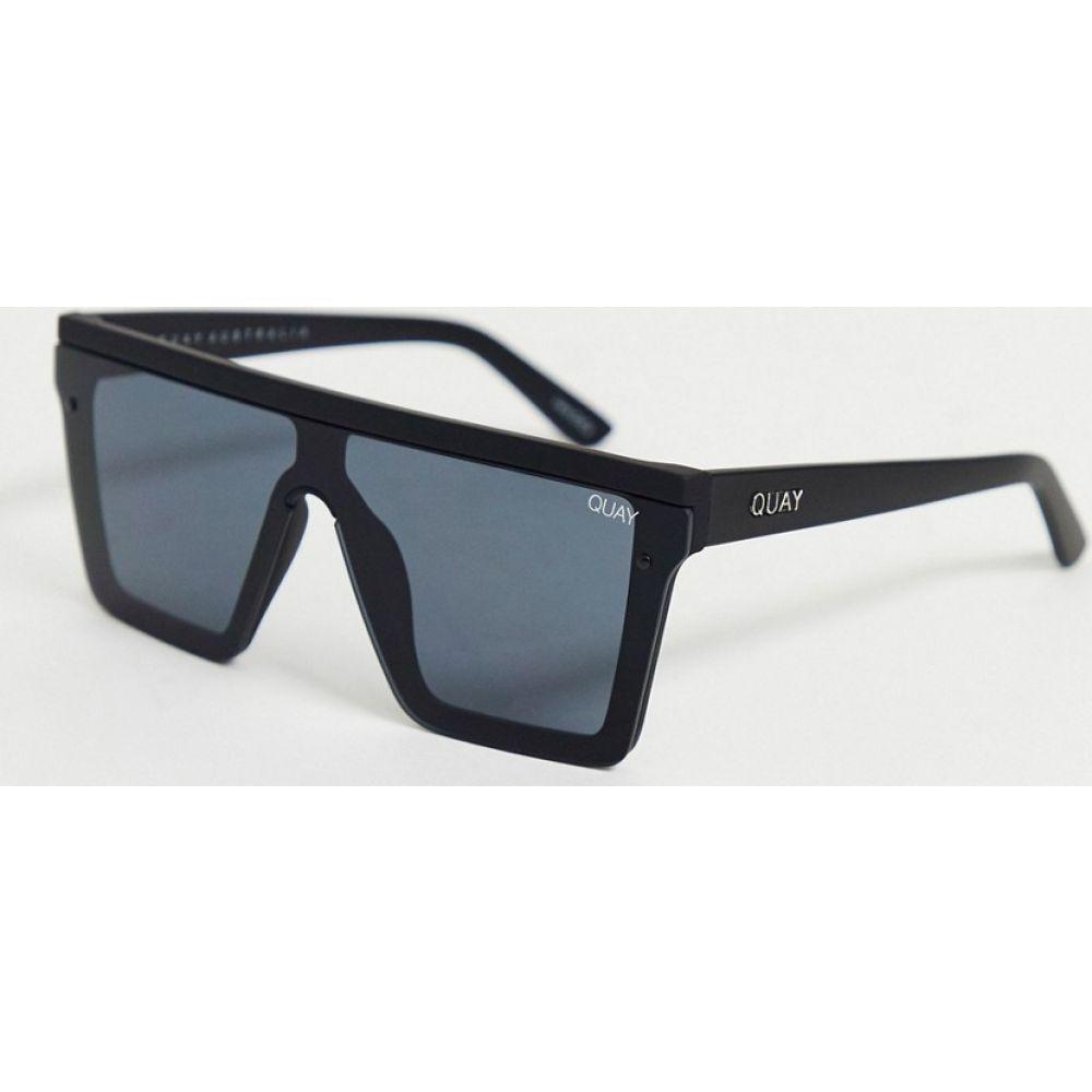 キー オーストラリア Quay Australia メンズ メガネ・サングラス 【Hindsight sunglasses in black】Black