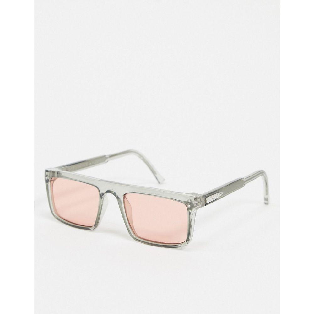スピットファイア Spitfire メンズ メガネ・サングラス スクエアフレーム【Deltoid square sunglasses in grey with pink lens】Grey