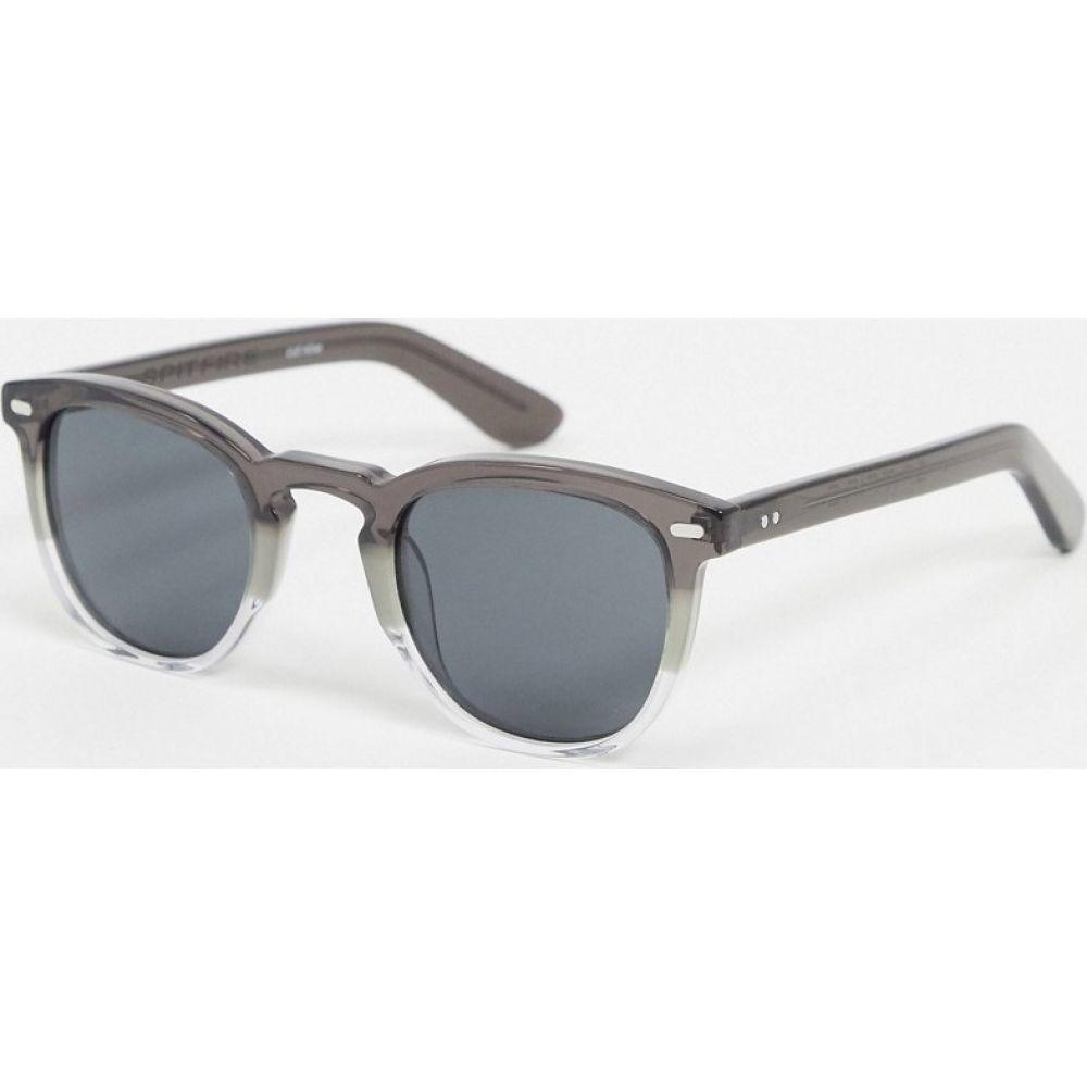 スピットファイア Spitfire メンズ メガネ・サングラス ラウンド【Cut Nine round sunglasses in grey】Grey