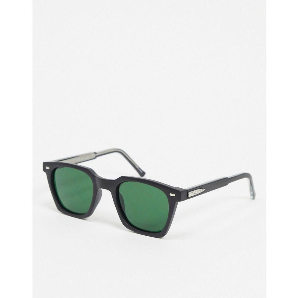 スピットファイア Spitfire メンズ メガネ・サングラス サングラスチェーン スクエアフレーム【Block Chain square sunglasses in black】Black