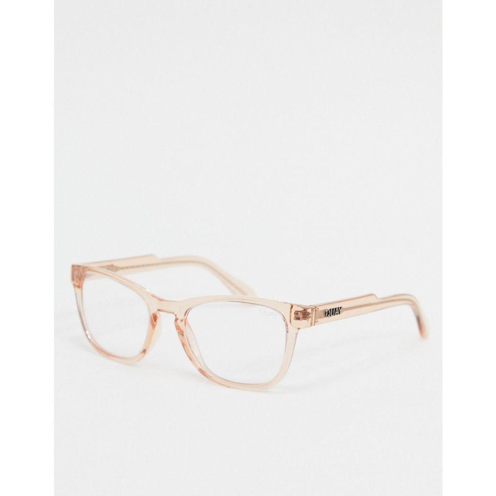 キー オーストラリア Quay Australia メンズ メガネ・サングラス 【Hardwire mini blue light glasses in clear】Clear
