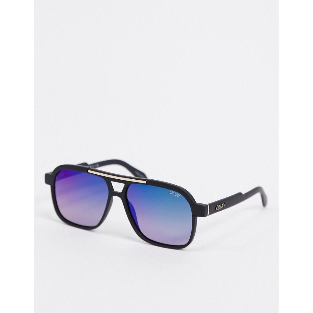 キー オーストラリア Quay Australia メンズ メガネ・サングラス アビエイター【Nemesis aviator sunglasses in black】Matte black navy