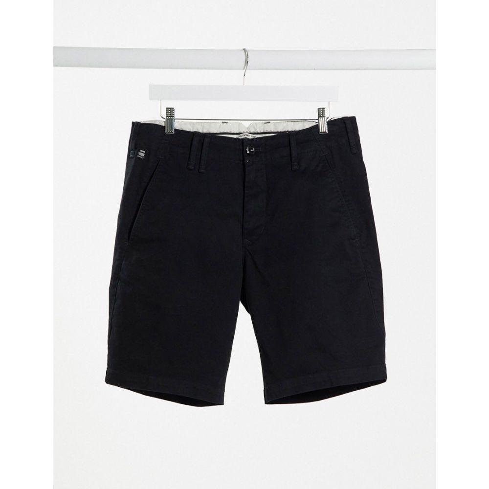 ジースター ロゥ G-Star メンズ ショートパンツ ボトムス・パンツ【Vetar chino shorts in black】Black