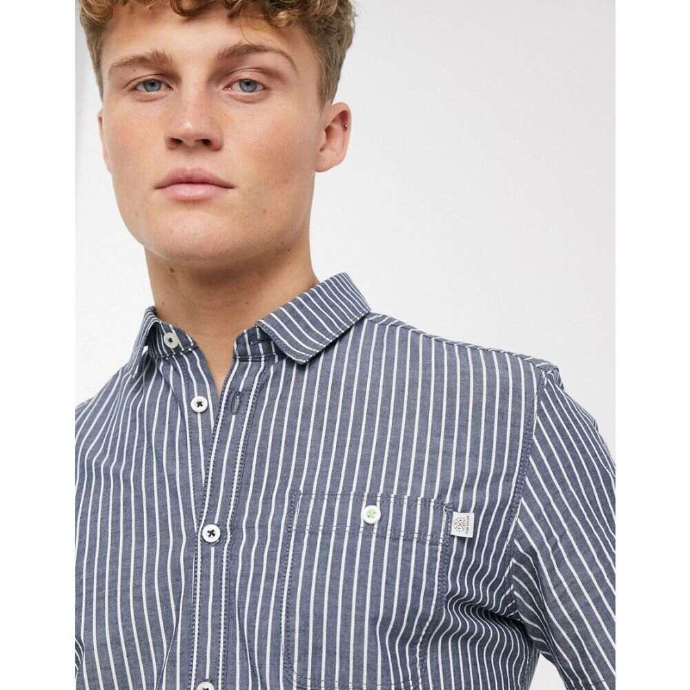 トムテイラー Tom Tailor メンズ シャツ トップス【stretch stripe shirt in blue】Blue