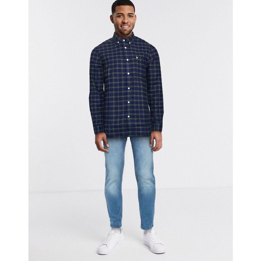 ライル アンド スコット Lyle & Scott メンズ シャツ フランネルシャツ トップス【check flannel shirt】Navy