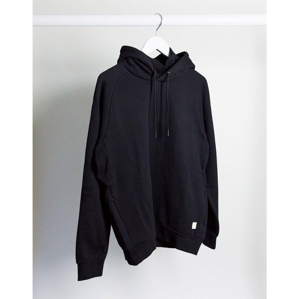スコッチ&ソーダ Scotch & Soda メンズ パーカー トップス【club nomade double neck hoodie】Black