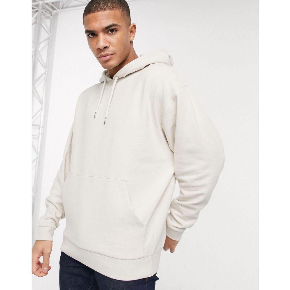 エイソス ASOS DESIGN メンズ パーカー トップス【oversized hoodie in light beige】Almond milk