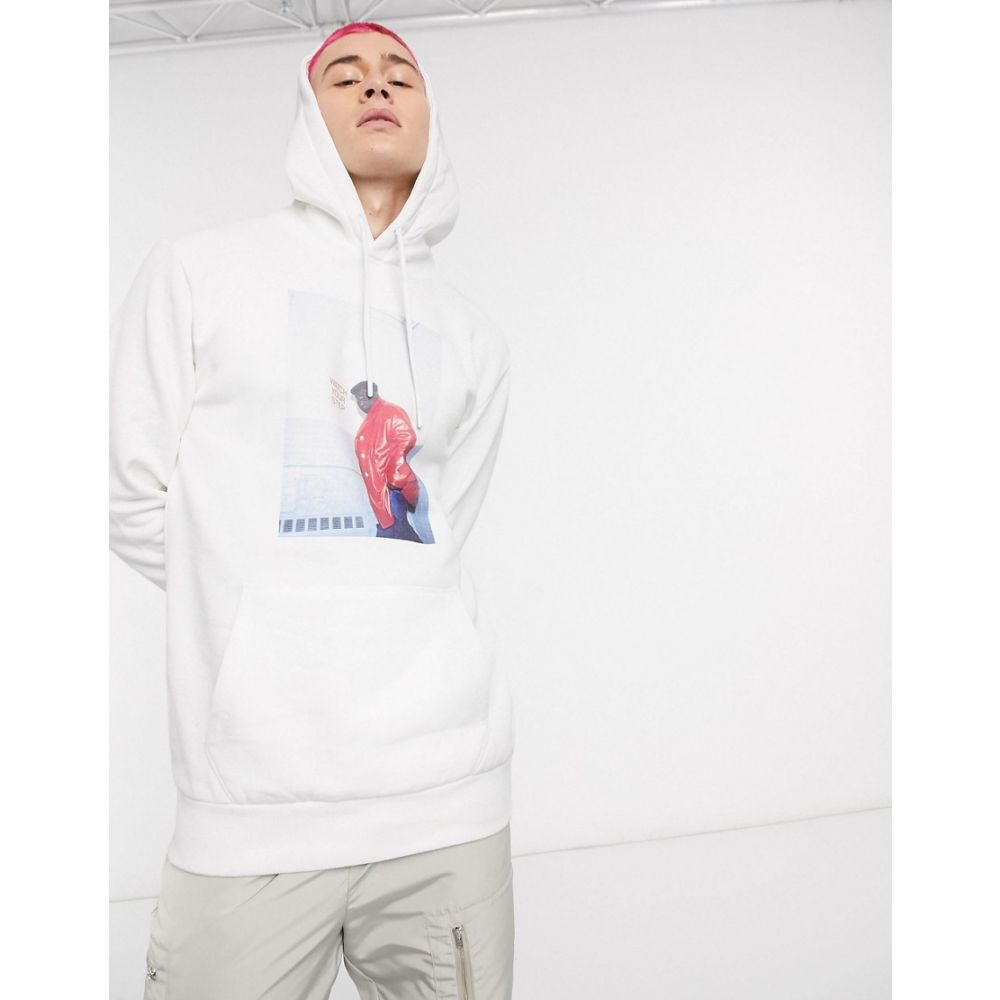 Chi Modu メンズ パーカー トップス【The Notorious B.I.G. Watch Your Step hoodie in white】White