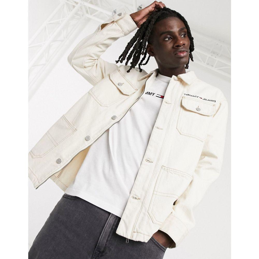 トミー ジーンズ Tommy Jeans メンズ ジャケット アウター【oversized workwear jacket in ecru】Work ecru rig