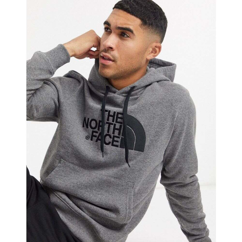 ザ ノースフェイス The North Face メンズ パーカー トップス【Light Drew Peak hoodie in grey】Diumgreyhtr/tnfblack