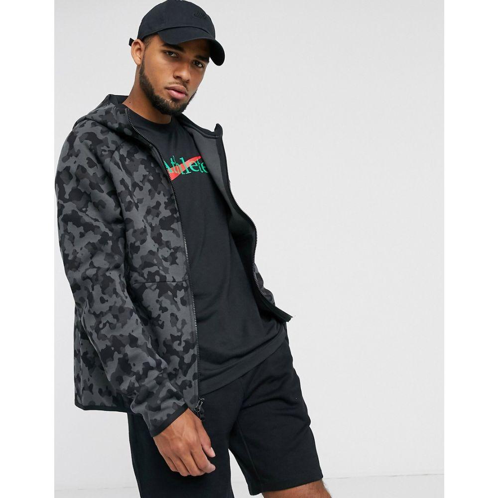 ナイキ Nike メンズ パーカー トップス【Tech fleece zip through hoodie in black】Black