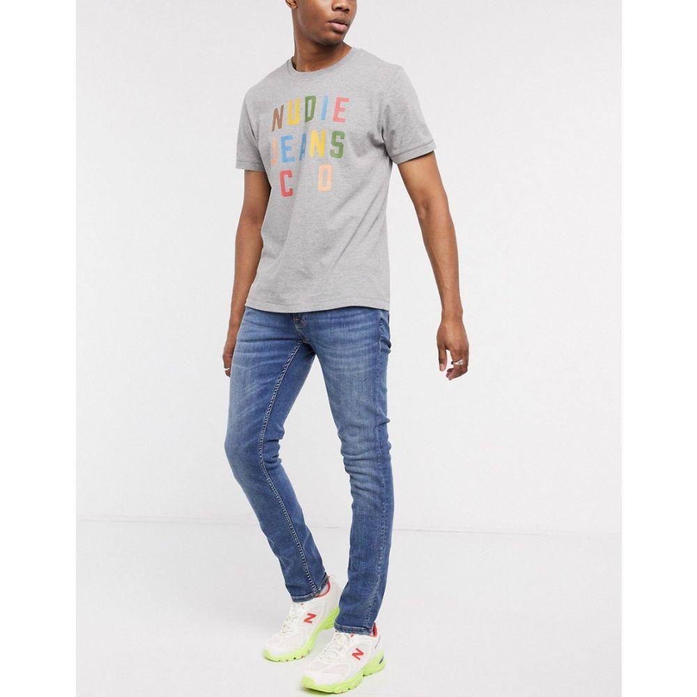 ヌーディージーンズ Nudie Jeans メンズ ジーンズ・デニム ボトムス・パンツ【Co Tight Terry skinny fit jeans in still navy】Midwash blue