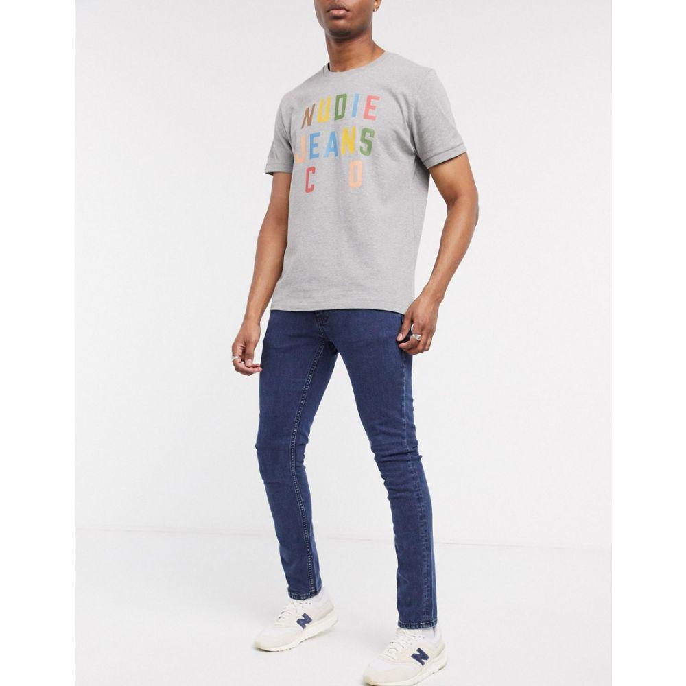ヌーディージーンズ Nudie Jeans メンズ ジーンズ・デニム ボトムス・パンツ【Co Tight Terry skinny fit jeans in black ocean】Washed black