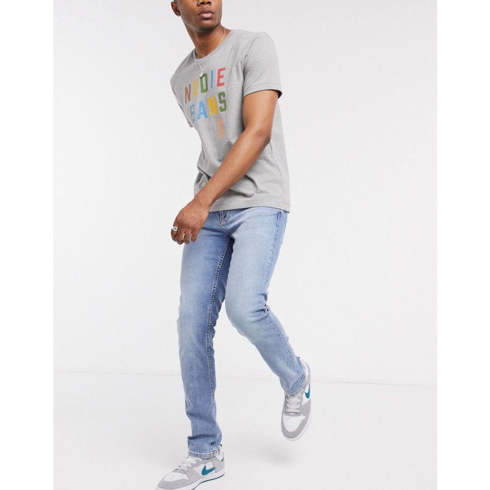 ヌーディージーンズ Nudie Jeans メンズ ジーンズ・デニム ボトムス・パンツ【Co Lean Dean slim tapered fit jeans in indigo salt】Light wash