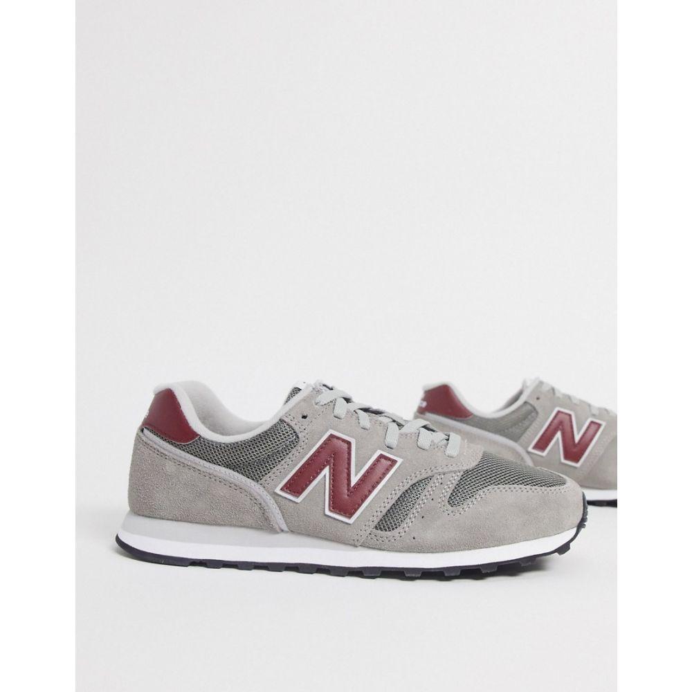 ニューバランス New Balance メンズ スニーカー シューズ・靴【373 trainers in grey and red】Marblehead