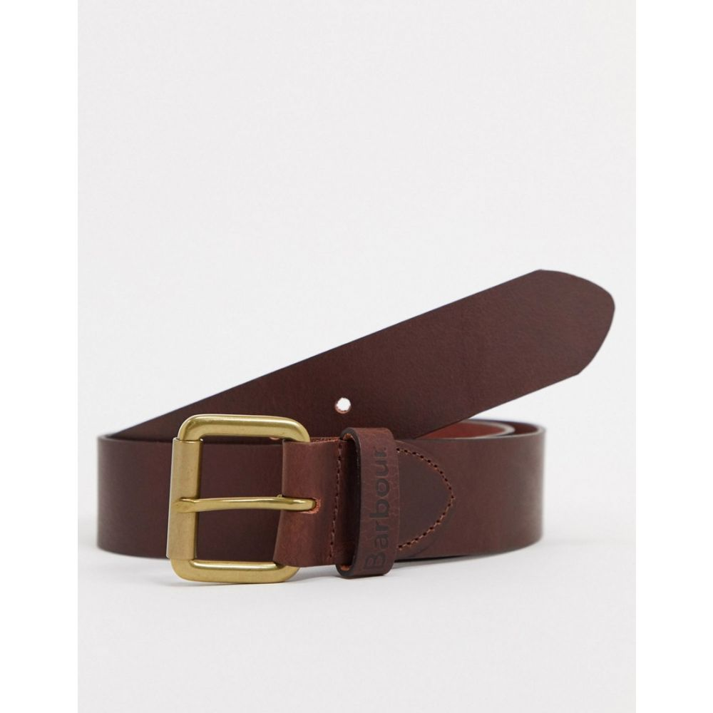 バブアー Barbour メンズ ベルト 【Matt leather belt in brown】Brown