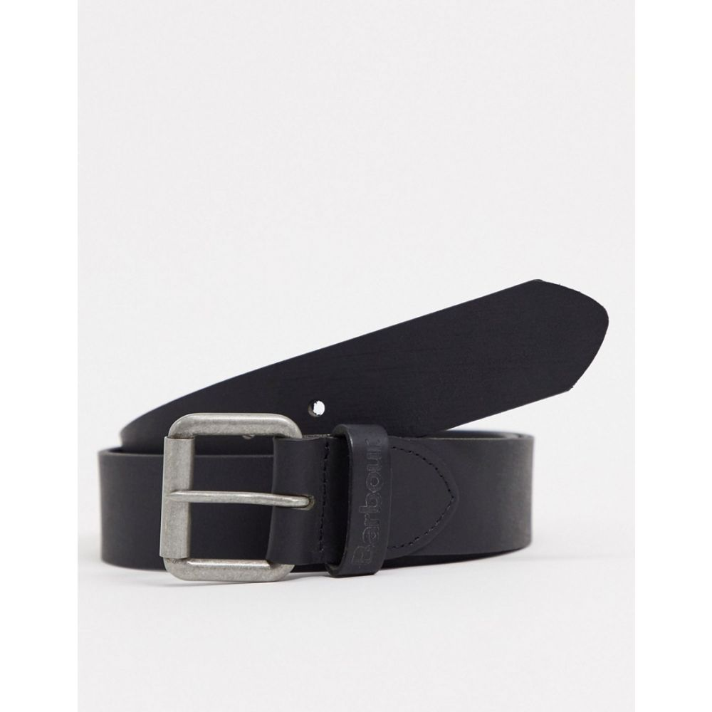 バブアー Barbour メンズ ベルト 【Matt leather belt in black】Black
