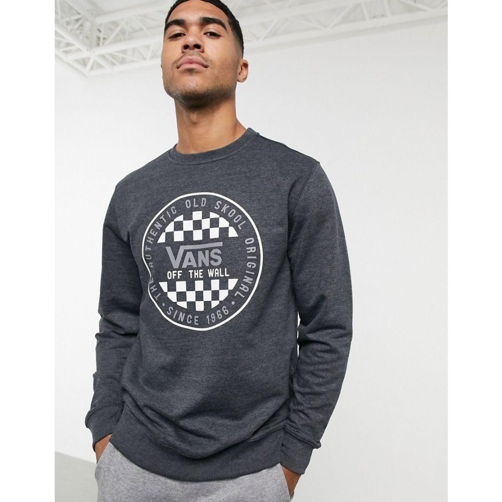 ヴァンズ Vans メンズ スウェット・トレーナー トップス【OG checker sweatshirt in black/grey】Black heather