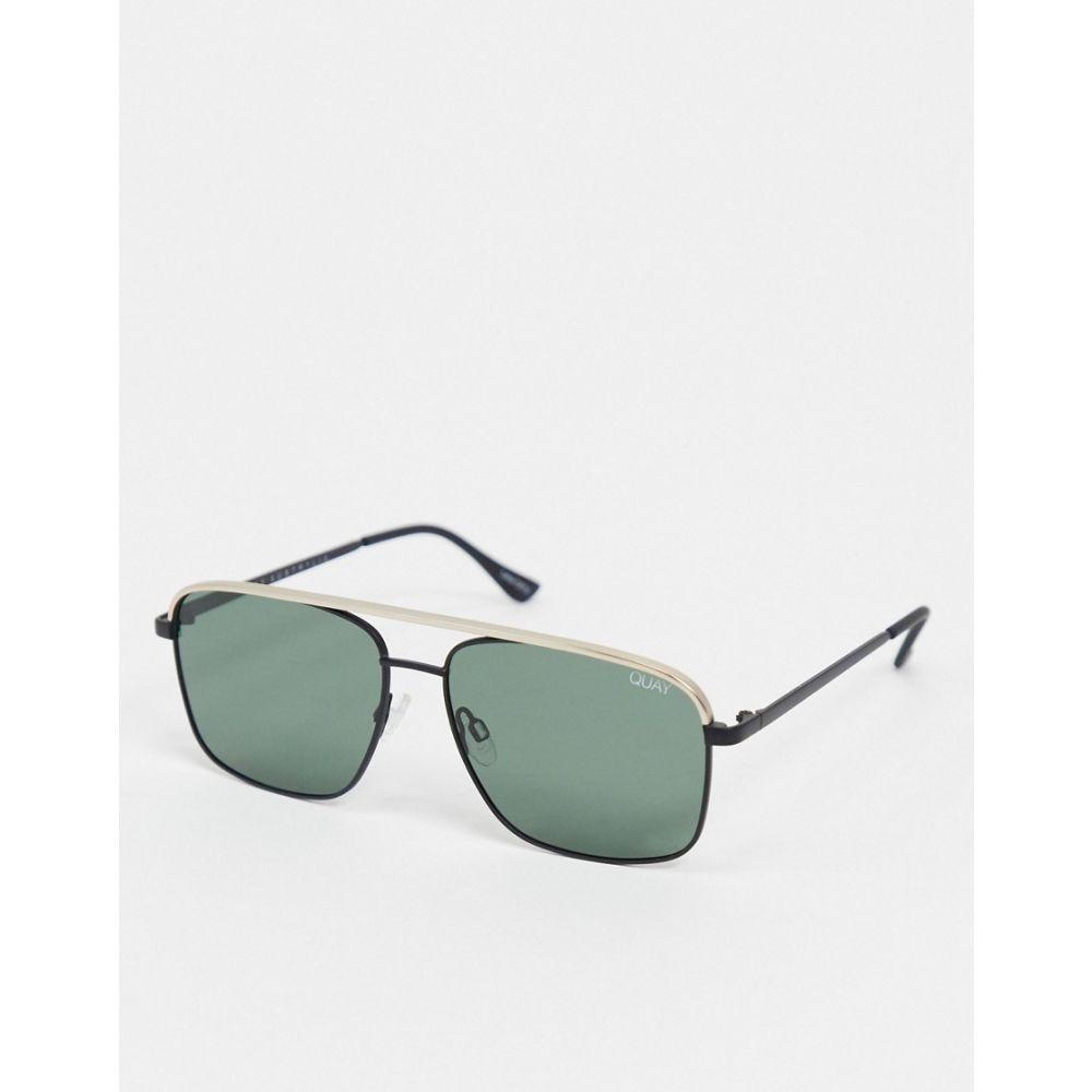 キー オーストラリア Quay Australia ユニセックス メガネ・サングラス アビエイター【Poster Boy slim aviator sunglasses in green】Green