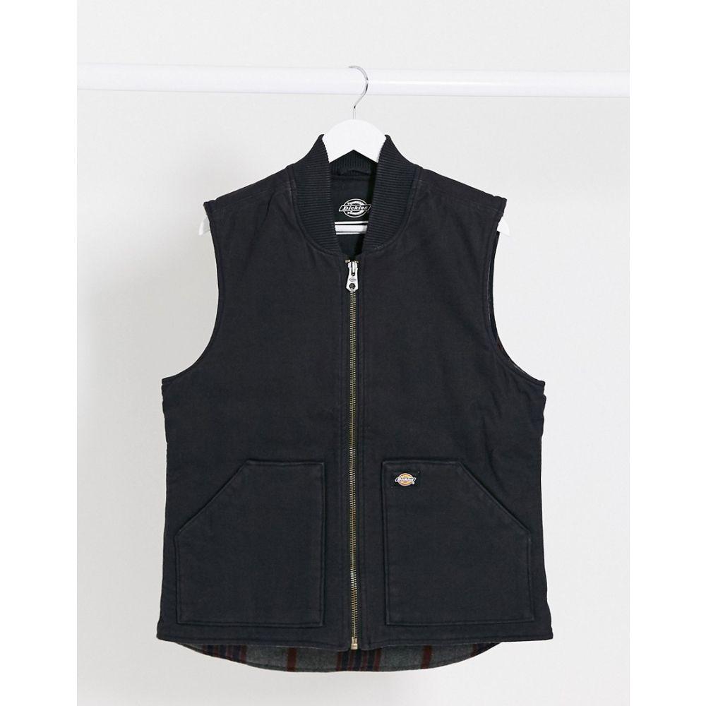 ディッキーズ Dickies メンズ ベスト・ジレ トップス【Lawrenceburg canvas vest in black】Black
