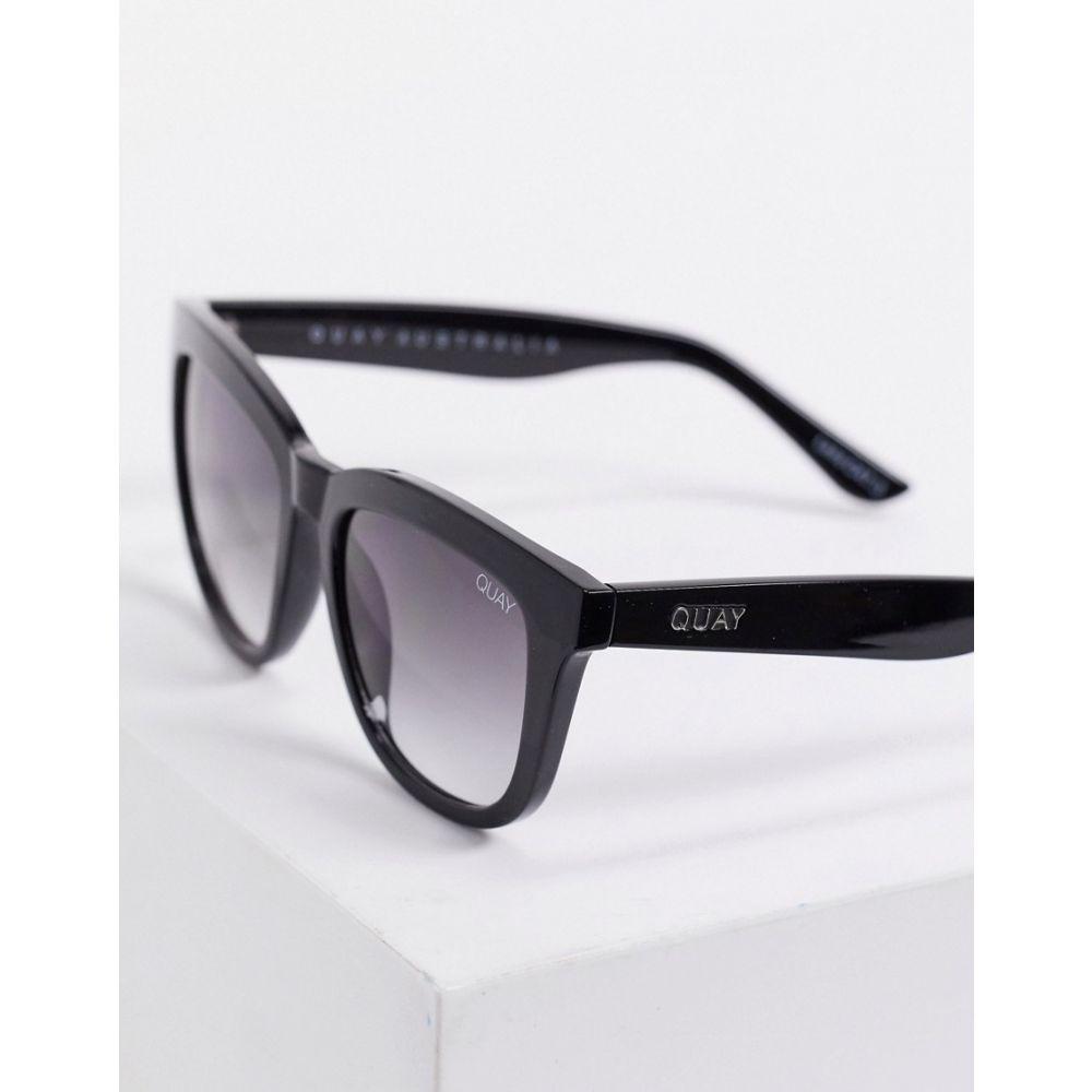 キー オーストラリア Quay Australia ユニセックス メガネ・サングラス ラウンド【Zeus round sunglasses in black】Black smoke lens
