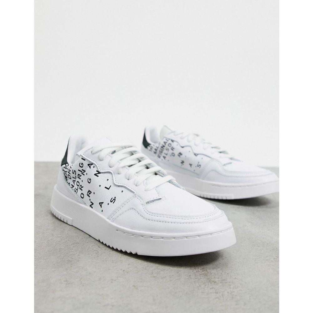 アディダス adidas Originals レディース スニーカー シューズ・靴【Supercourt trainers in white & core black】White