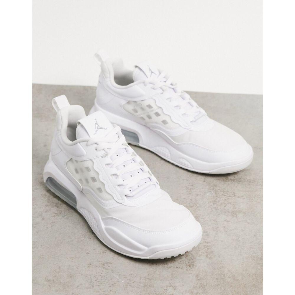 ナイキ ジョーダン Jordan メンズ スニーカー シューズ・靴【Nike Air Max 200 trainers in white/metallic silver】White/silver