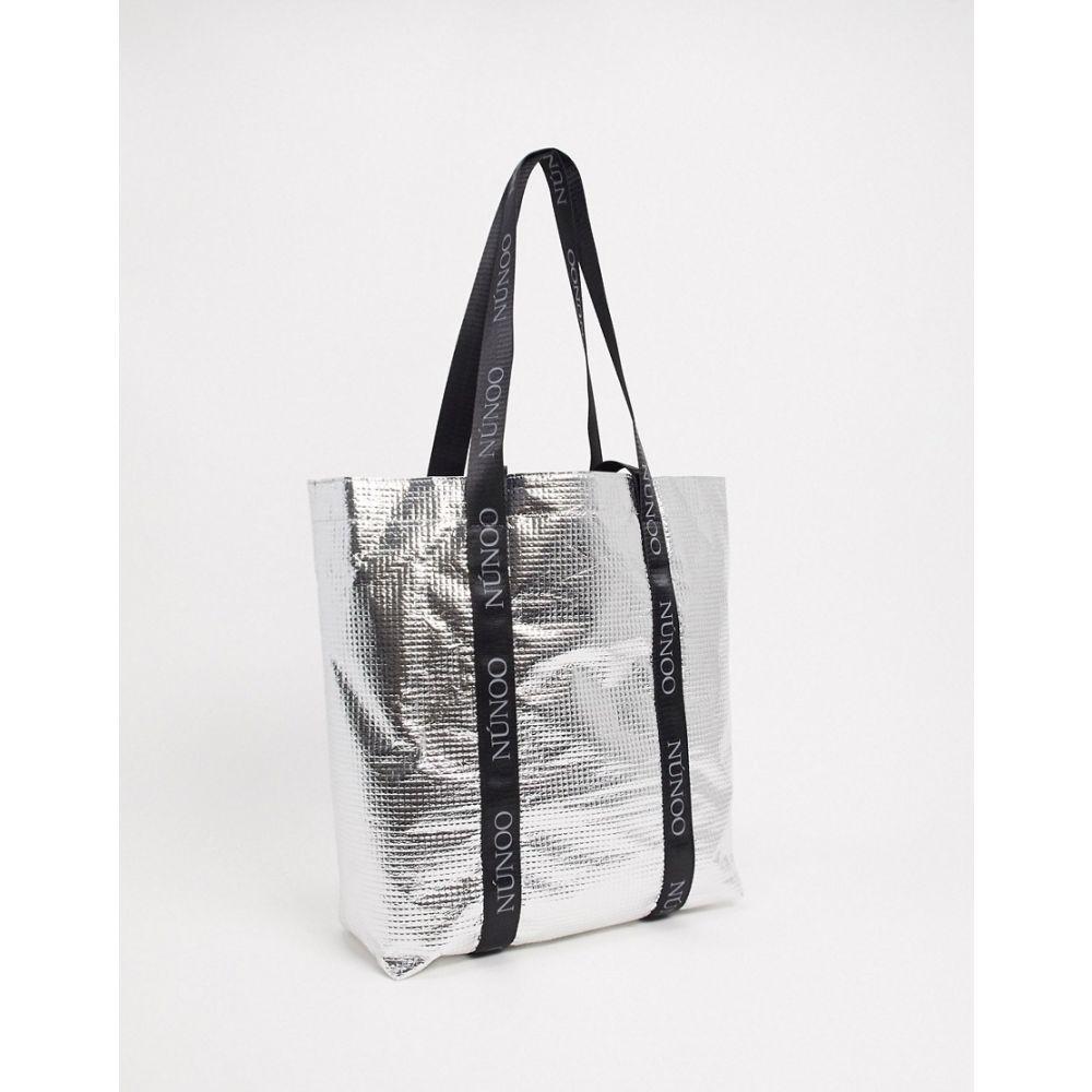 ヌーノ Nunoo レディース トートバッグ バッグ【Cool shopper bag in silver】Silver metallic