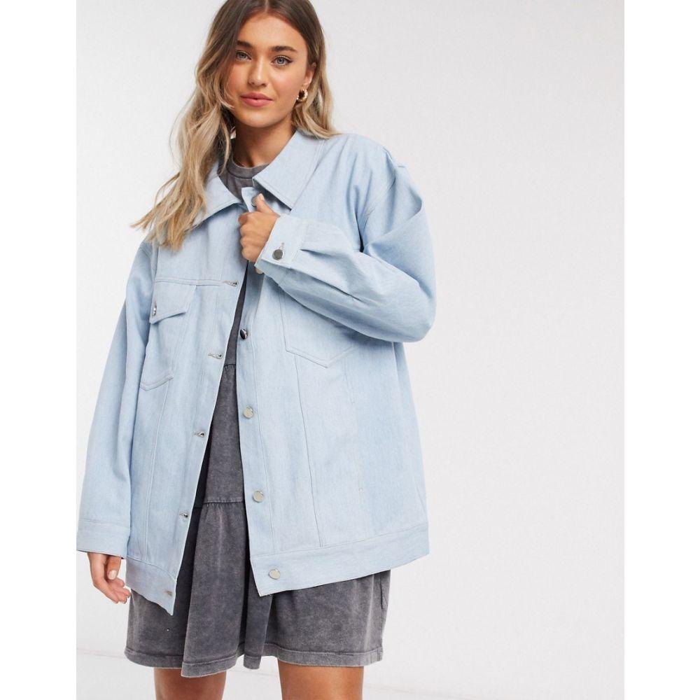 デイジーストリート Daisy Street レディース ジャケット Gジャン アウター【oversized jacket in light wash denim】Light wash blue