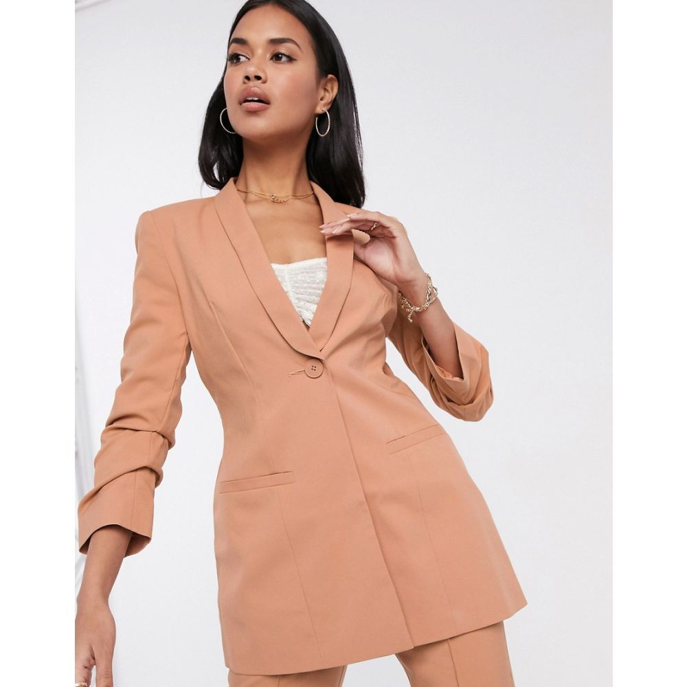エイソス ASOS DESIGN レディース スーツ・ジャケット アウター【Hourglass mix & match suit blazer】Blush