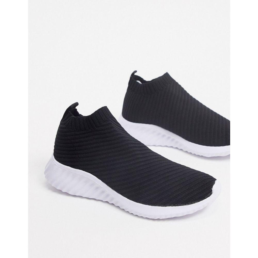 エイソス ASOS DESIGN レディース スニーカー シューズ・靴【Darlington sock trainers in black】Black