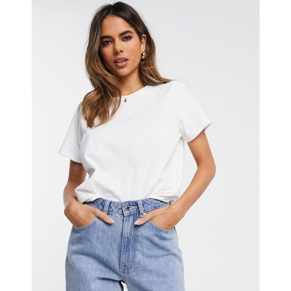 エイソス ASOS DESIGN レディース Tシャツ トップス【Fuller Bust ultimate organic cotton crew neck t-shirt in white】White:フェルマート