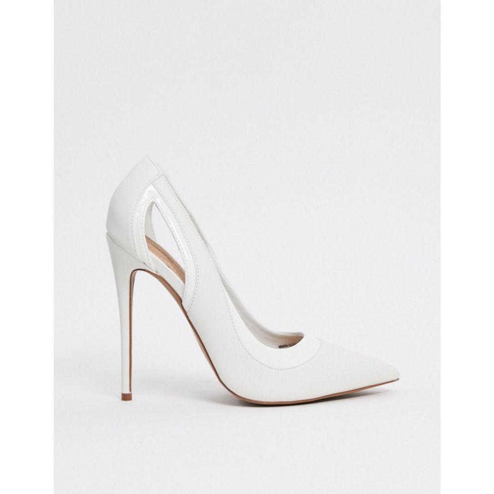 エイソス ASOS DESIGN レディース パンプス ピンヒール シューズ・靴【Peaky stiletto court shoes in white】White