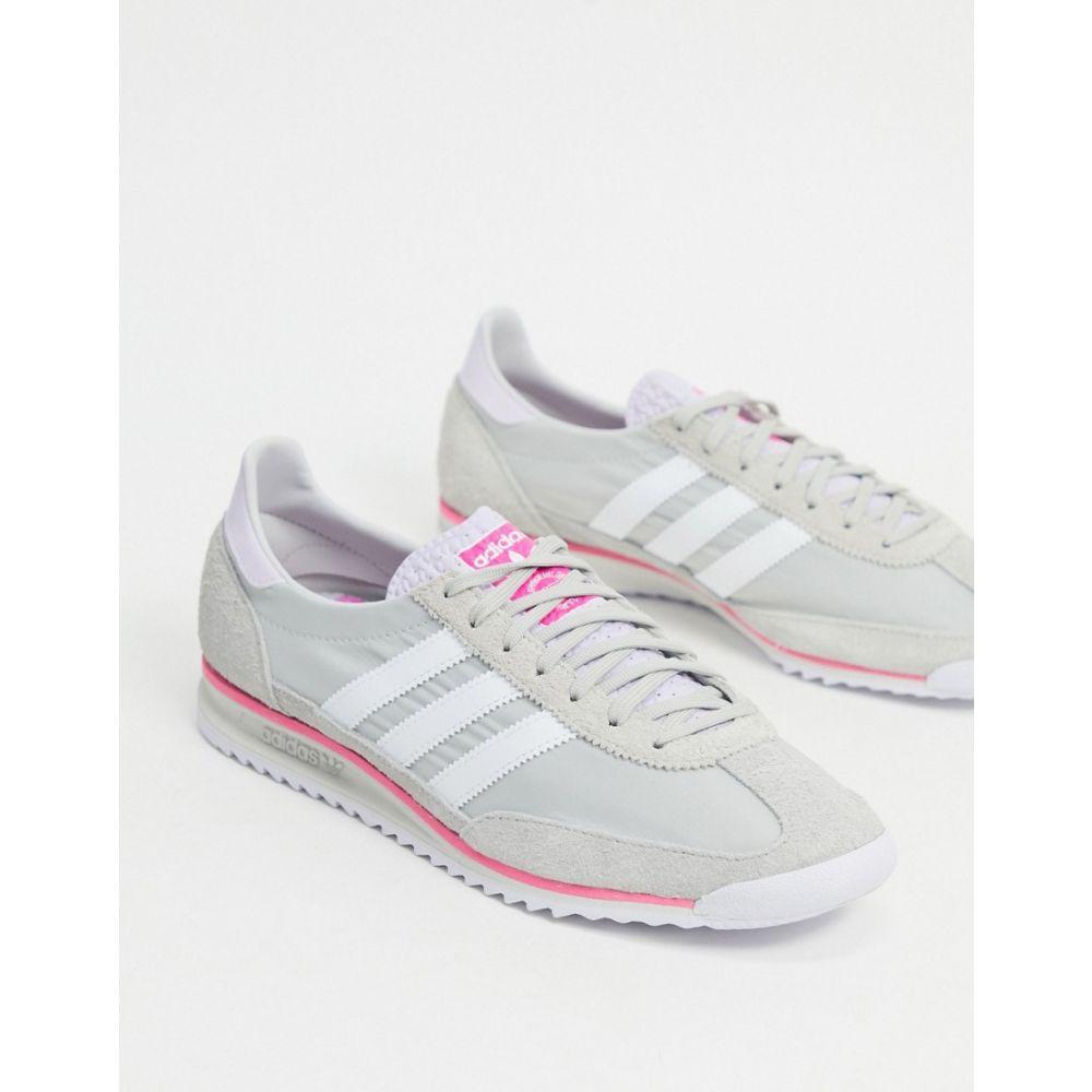 アディダス adidas Originals レディース スニーカー シューズ・靴【SL 72 trainers in grey and pink】White/