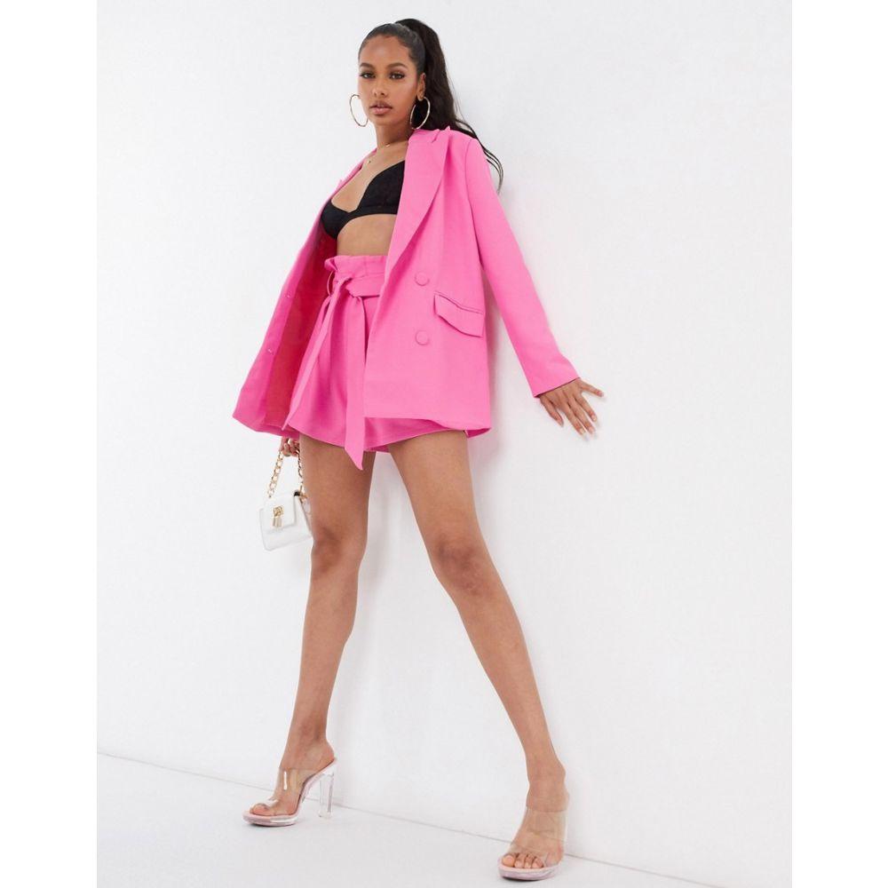 フォース&レックレス 4th + Reckless レディース スーツ・ジャケット アウター【oversized blazer co ord in pink】Pink