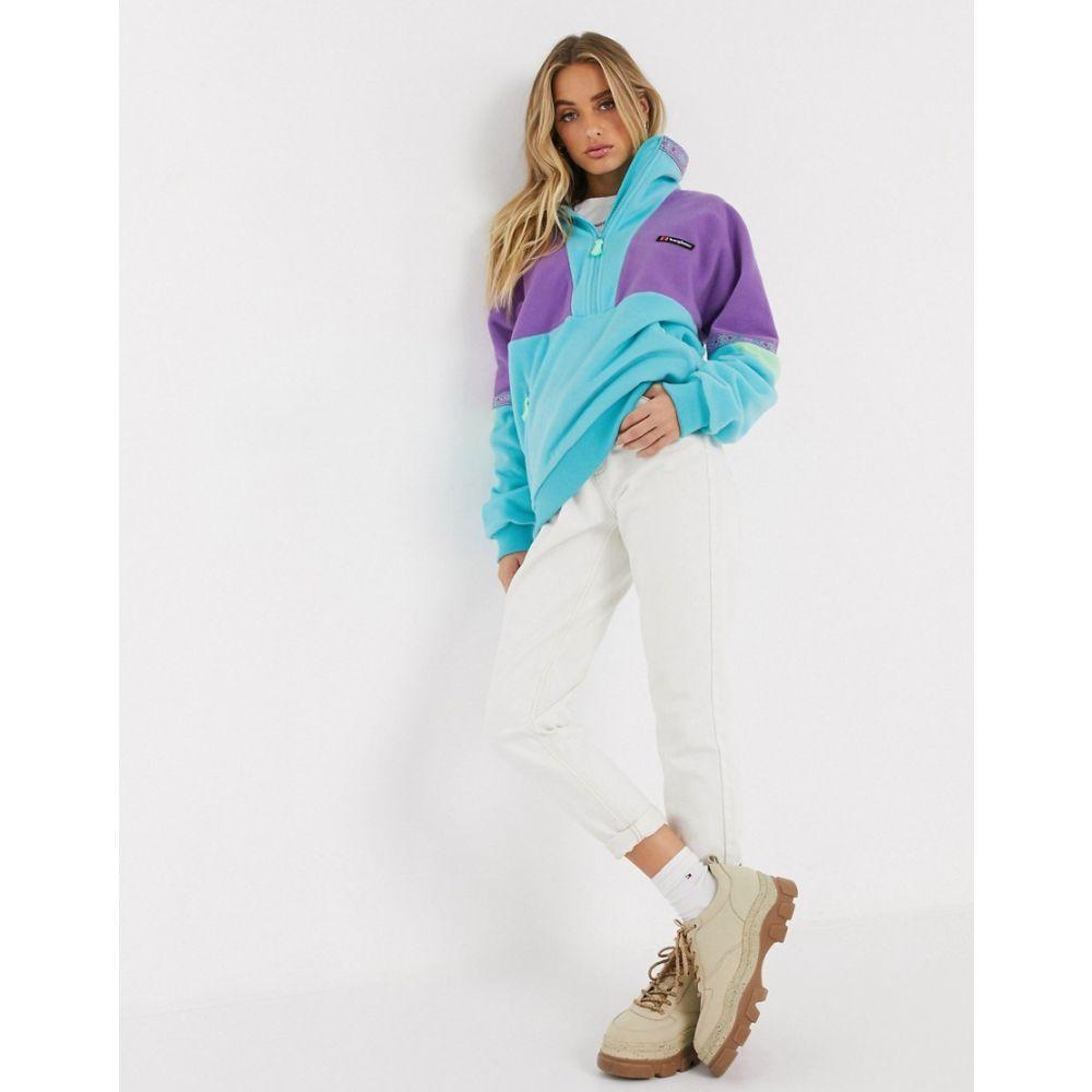 バーグハウス Berghaus レディース ジャケット アウター【Tramantana 91 half zip jacket in blue】Yst orchid/green ash