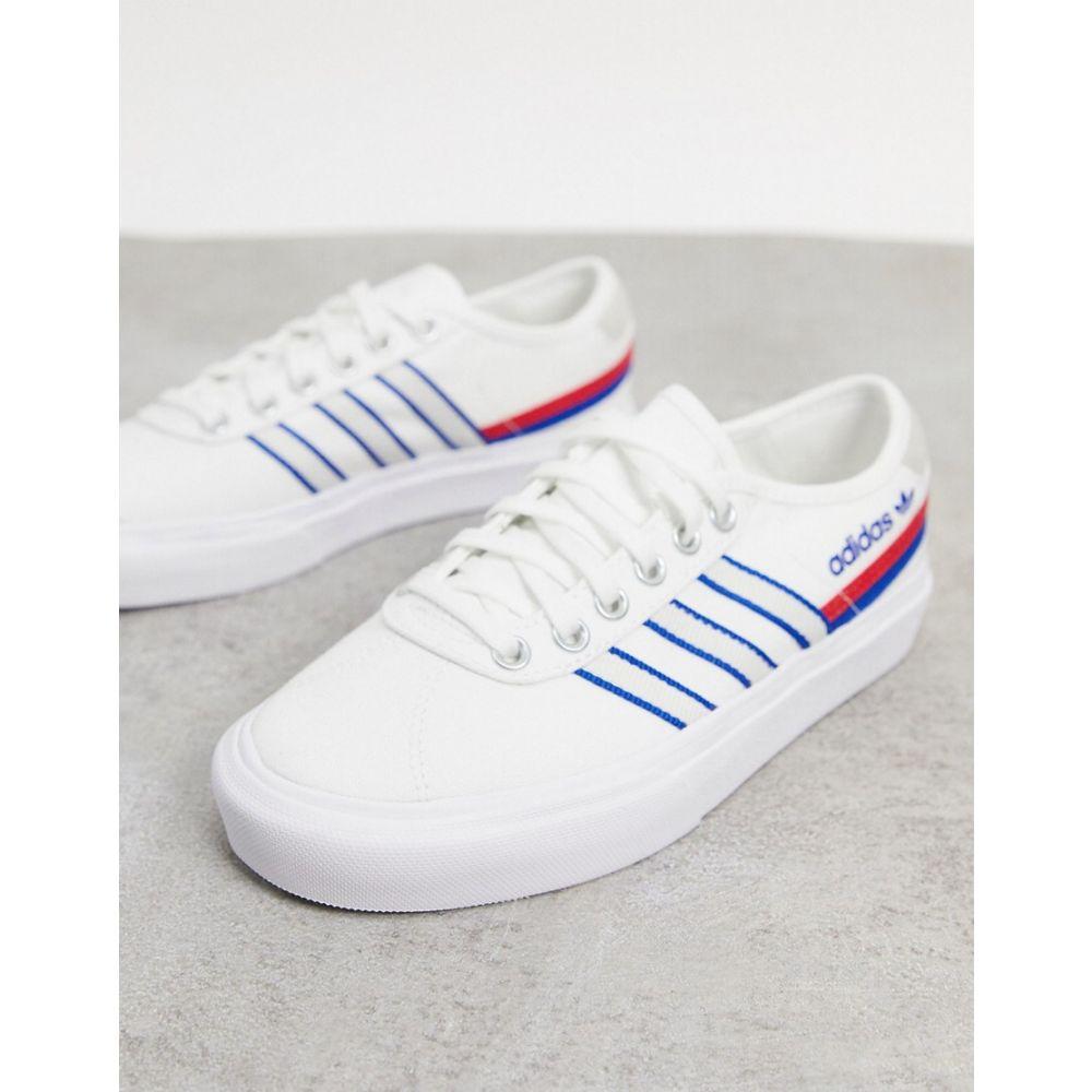 アディダス adidas Originals レディース スニーカー シューズ・靴【Delpala trainers in white and blue】White