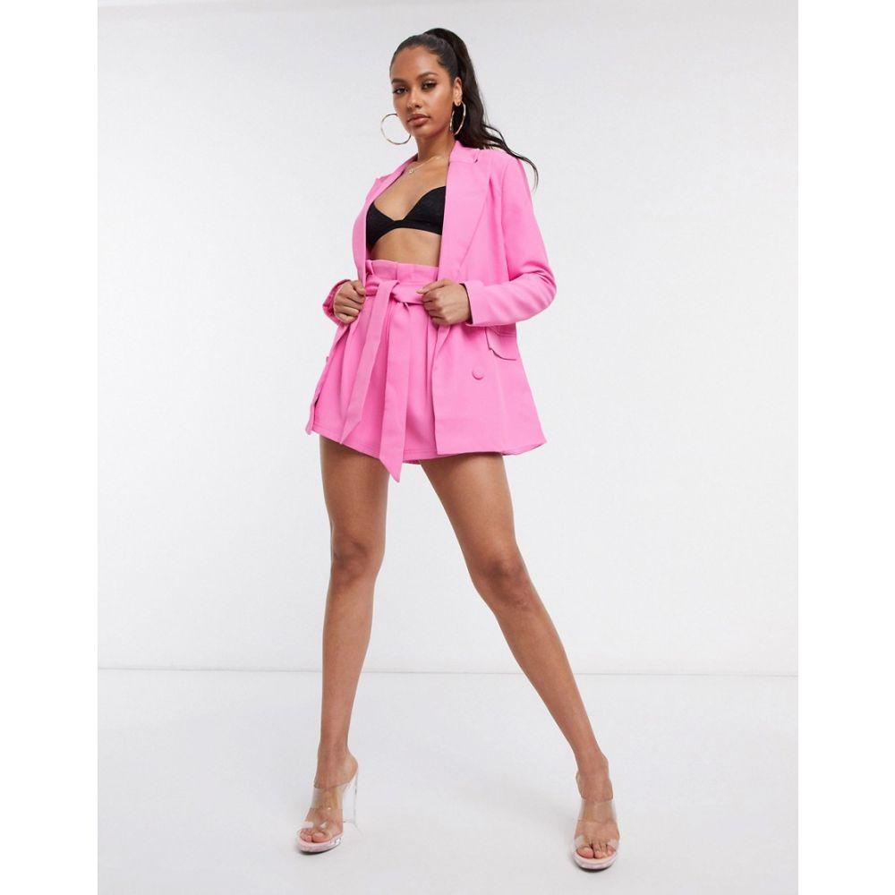 フォース&レックレス 4th + Reckless レディース ショートパンツ ボトムス・パンツ【tie waist short co ord in pink】Pink