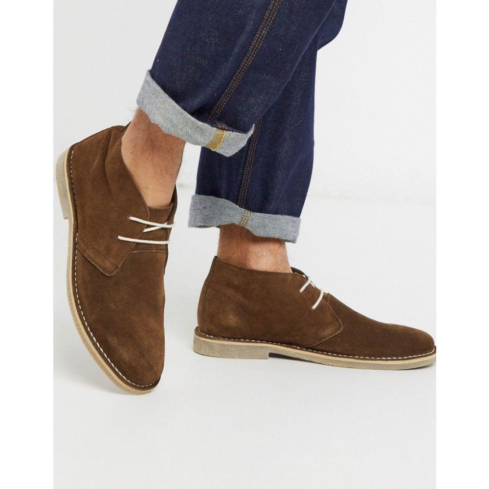 エイソス ASOS DESIGN メンズ ブーツ チャッカブーツ シューズ・靴【desert chukka boots in brown suede】Brown