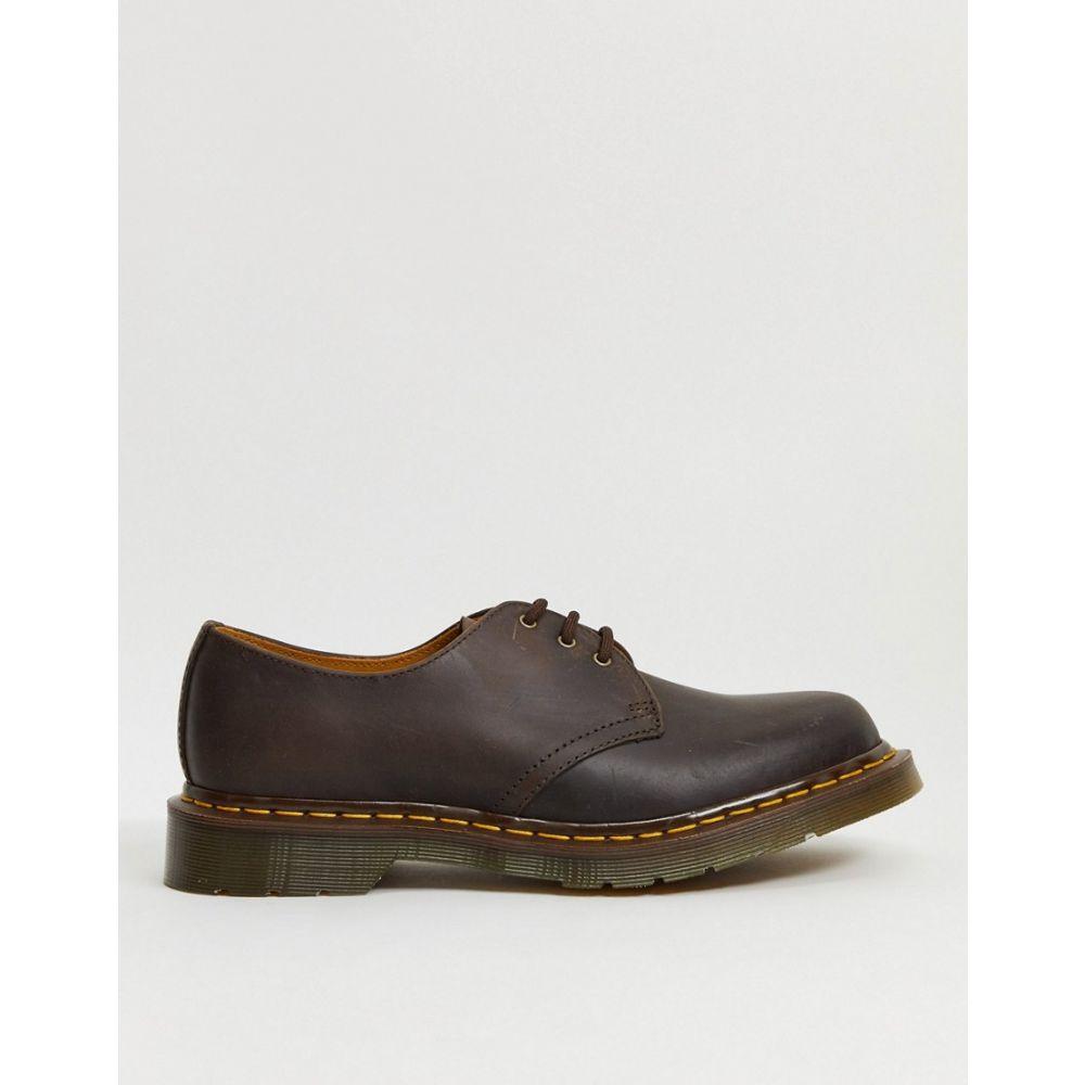 ドクターマーチン Dr Martens メンズ シューズ・靴 【1461 3 eye shoes in gaucho crazy】Brown