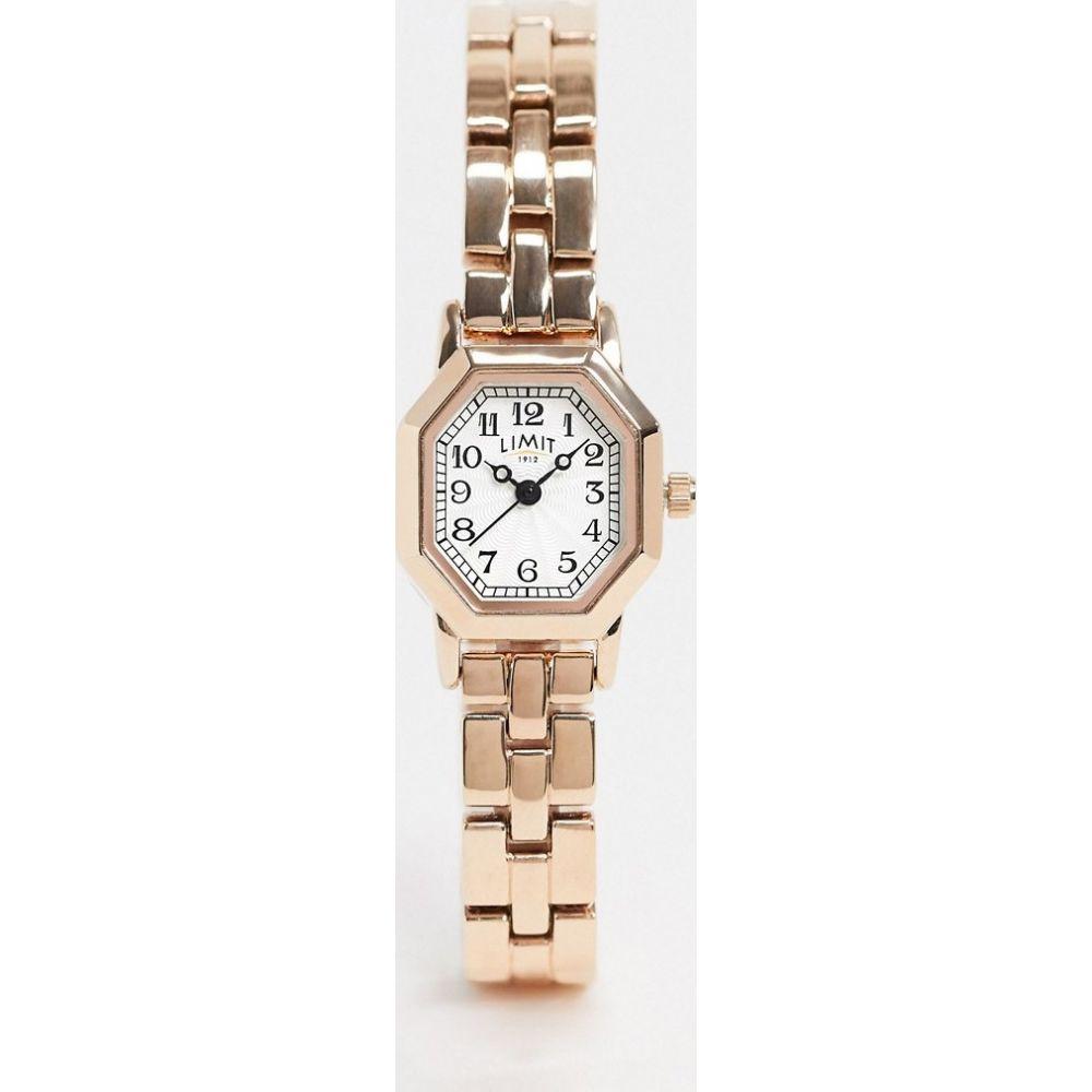 リミット Limit レディース 腕時計 ブレスレットウォッチ【Octagonal bracelet watch in rose gold exclusive to ASOS】Gold
